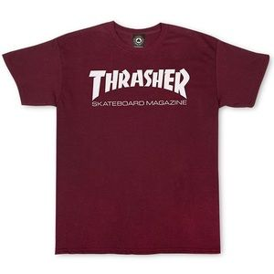 maroon thrasher shirt